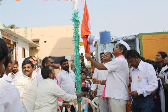 Republic Day Celebaration at Rajiv Gruhakalpha Sherlingampally