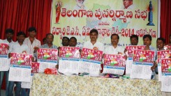 Telangana Student JAC, A.V College 2014 Dairy Inauguration (1)
