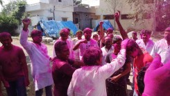 Konda Vishweshwar Reddy in Holi celebrations 12
