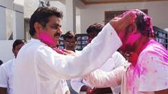 Konda Vishweshwar Reddy in Holi celebrations 245x138