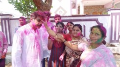 Konda Vishweshwar Reddy in Holi celebrations