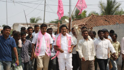 Konda Vishweshwar Reddy participates interaction with Kethireddy pally Villagers