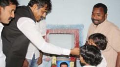 Konda Vishweshwar Reddy visits Namaste Telangana Press Reporter Narsimhulu family 1