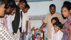 Konda Vishweshwar Reddy visits Namaste Telangana Press Reporter Narsimhulu family 2
