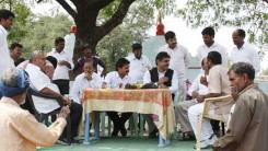 Konda Vishweshwar Reddy visits Namaste Telangana Press Reporter Narsimhulu family 6