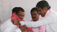 Konda Vishweshwar Reddy welcomes members into the party at Gaganpahad 245x138