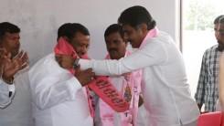 Konda Vishweshwar Reddy welcomes members into the party at Gaganpahad