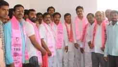 Konda Vishweshwar Reddy welcomes members into the party at Gaganpahad 4