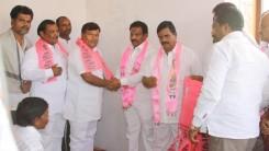 Konda Vishweshwar Reddy welcomes members into the party at Gaganpahad 5