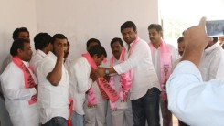 Konda Vishweshwar Reddy welcomes members into the party at Gaganpahad 6
