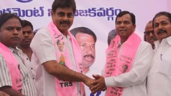 Konda Vishweshwar Reddy welcomes new members into the party at office.jpg