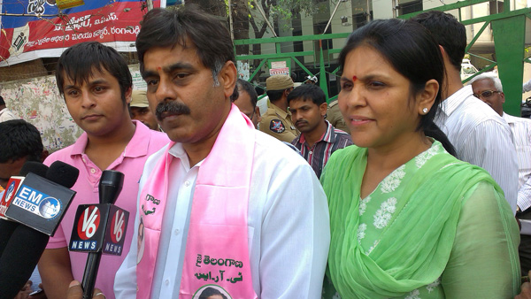 Konda Vishweshwar Reddy files nomination papers for Chevella Lok Sabha 4