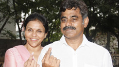 Konda Vishweshwar Reddy _ Sangita Reddy Casting their Votes 245x138