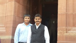 Konda Vishweshwar Reddy at the Parliament, after taking oath as MP