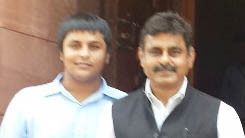 Konda Vishweshwar Reddy at the Parliament, after taking oath as MP.